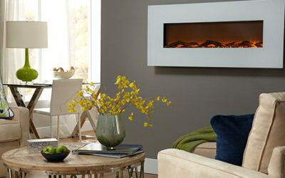 Ivory 50″ Wall Hanging Electric Fireplace from Touchstone Home Products