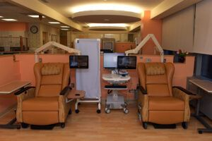 LG TVs enhancing the patient experience in cancer center of hospital.