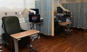 LG TVs enhancing the patient experience in a hospital setting.