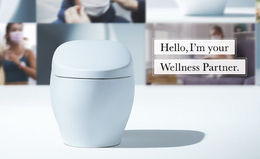 Smart toilet in the biophilic wellness category.