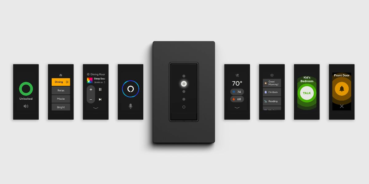 Human-centric lighting dimmer switch interfaces from Orro.