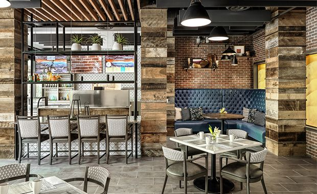 CCRC Sagewood's cafe area.