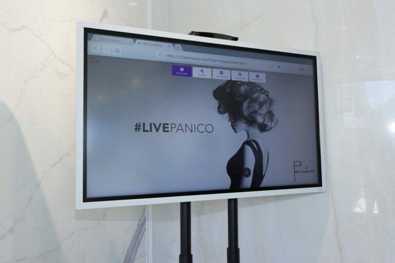 Samsung's technology powering Panico's new self-care experience.