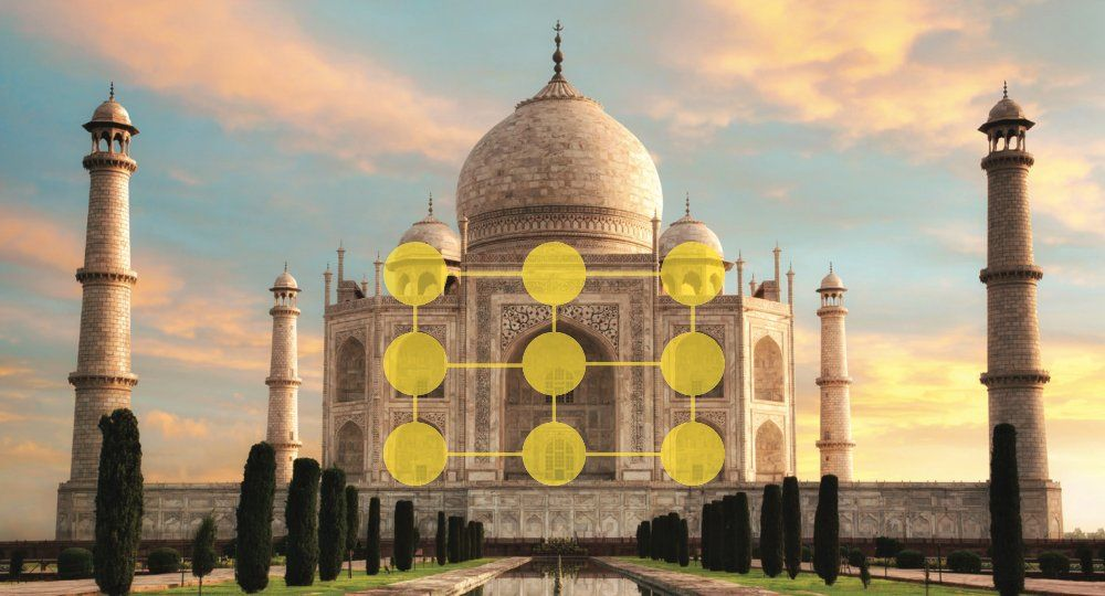 An example of the rule of threes with the Taj Mahal as it pertains to technology designs.