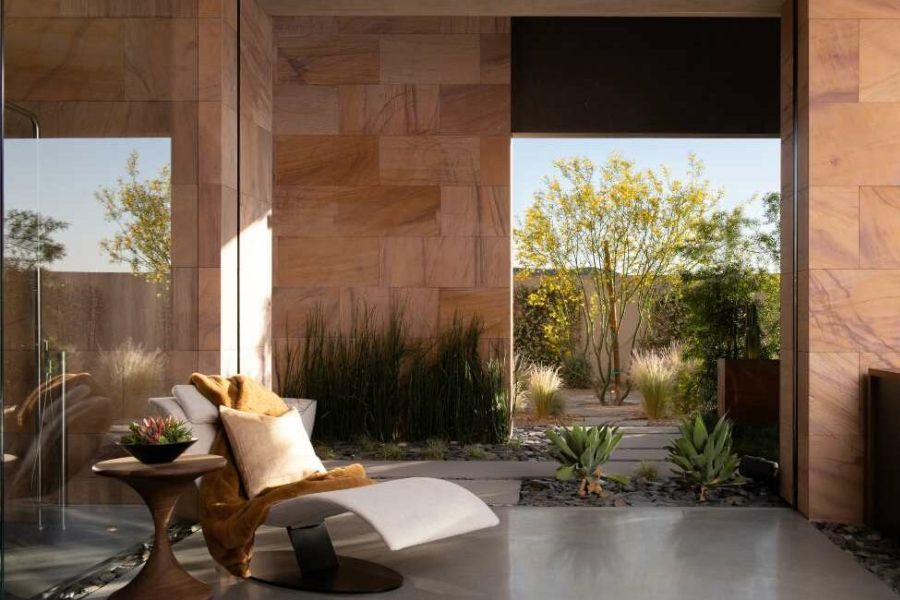 Room showcasing the wellness and design aspects of the Savant showroom in Las Vegas.