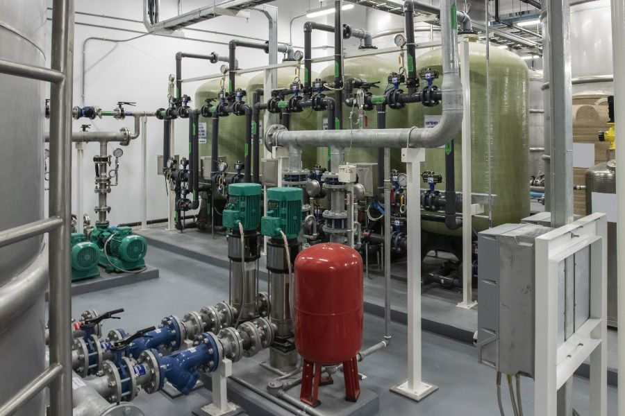 Showcase of a water softening set-up as a healthy home upgrade.