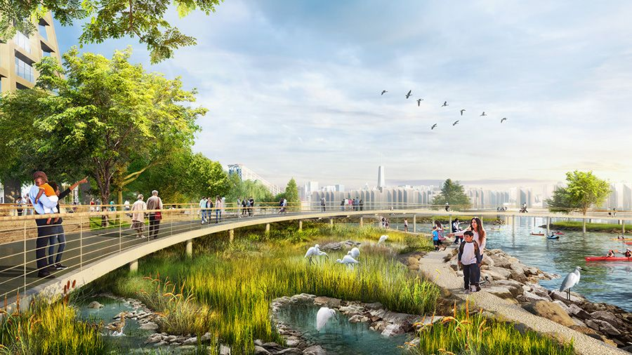 Eco-friendly urban developments at the River Ring.