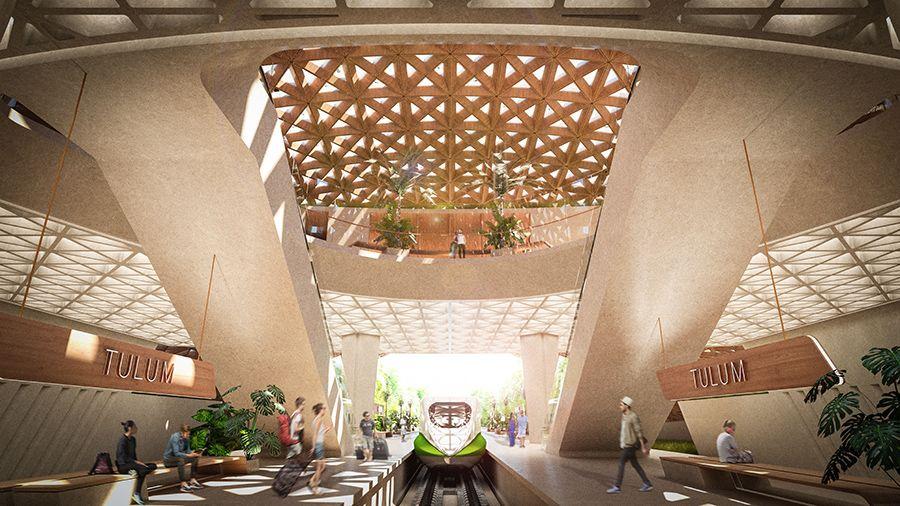 Eco-friendly urban developments at the Tren Maya Station.